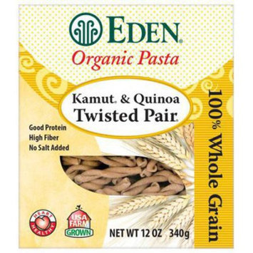Eden Organic Eden Kamut & Quinoa Twisted Pair, Organic, 100% Whole Grain, 12 Ounce (Pack of 3)