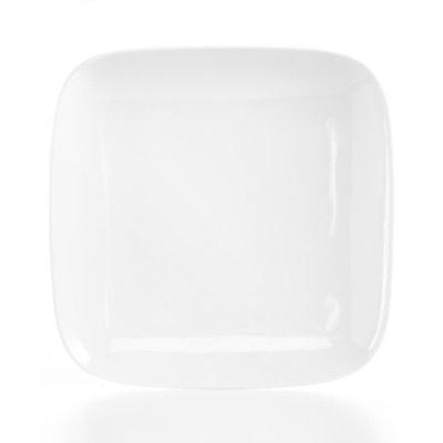 The Cellar Whiteware Soft Square Dinner Plate