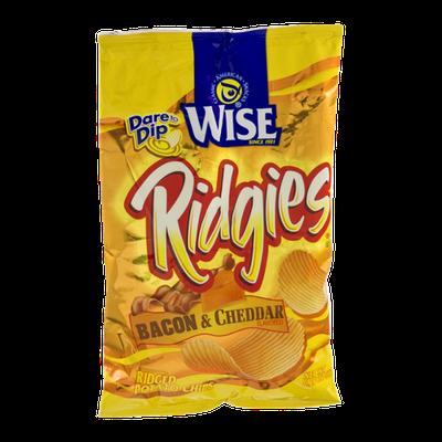 Wise Ridgies Ridged Bacon & Cheddar Potato Chips