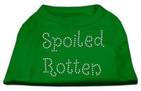Ahi Spoiled Rotten Rhinestone Shirts Emerald Green Lg (14)