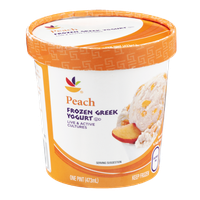 Ahold Frozen Greek Yogurt Peach