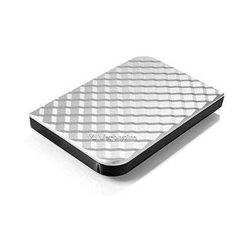 Verbatim 99373 Silver 1TB Store 'n' Go USB 3.0 Portable Hard Drive Diamond Series