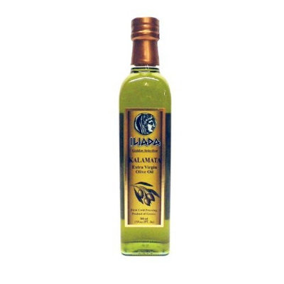 Iliada Kalamata Greek Extra Virgin Olive Oil , 17-Ounce Glass Bottles (Pack of 3)
