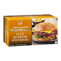 Ahold 100% Ground Beef Quarter Pounders - 12 CT