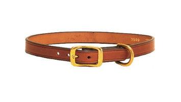 Tory Leather Plain Creased Dog Collar