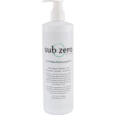 Sub zero LZ1665 Cool Pain Relieving Gel, Bottle with Pump, 16 oz, Clear