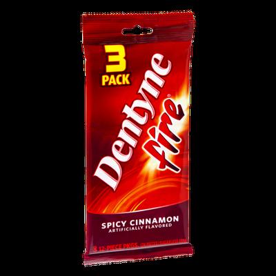 Dentyne Fire Spicy Cinnamon Sugarless Gum- 3 PK