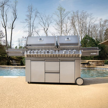 Wolf Steel Usa Inc Napoleon Prestige PRO825 Grill with Infrared Rear and Side Burners
