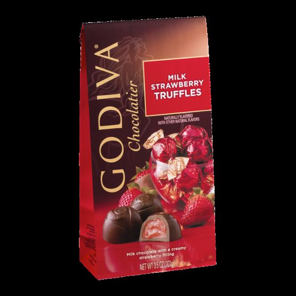 Godiva Milk Strawberry Truffles
