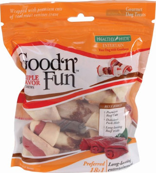 Healthy Hide Good N Fun Triple Flavor Chews