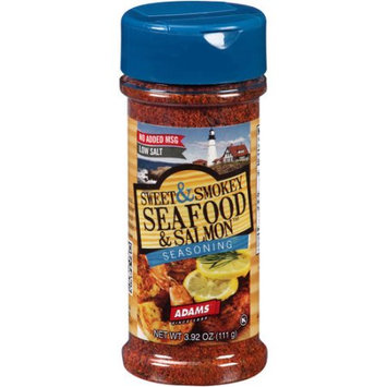 Adams Extract & Spice Adams Sweet & Smokey Seafood & Salmon Seasoning, 3.92 oz