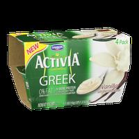 Dannon Activia Greek Nonfat Yogurt Vanilla - 4 CT