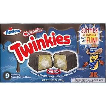 Hostess Chocodile Twinkies Chocolate Covered Sponge Cake with Creamy Filling 1 Box (9 Count)