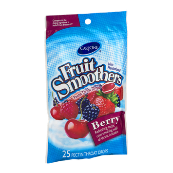 CareOne Fruit Smoothers Pectin Throat Drops Berry - 25 CT