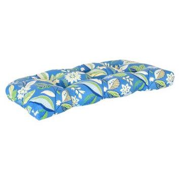 Jordan Outdoor Wicker Bench/Loveseat/Swing Cushion - Blue/Green Floral