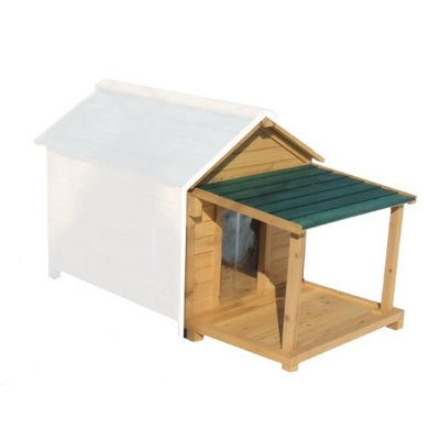 Premium Pet Products Simply Cedar Porch and Deck Addition for Dog House