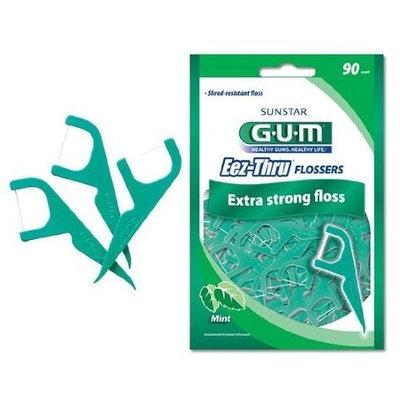 G-U-M Gum Eez-Thru Flossers Mint, 90 count (Pack of 3)
