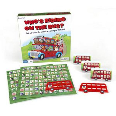 Pressman Toy Who's Riding on the Bus? Game Ages 5+, 1 ea
