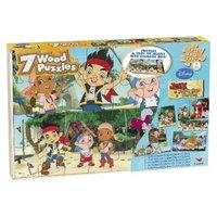 Jake and the Neverland Pirates Disney Jake & the Neverland Pirates 7pk Wood Puzzle
