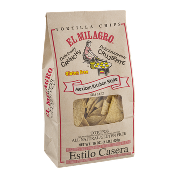 El Milagro Mexican Kitchen Style Tortilla Chips Sea Salt