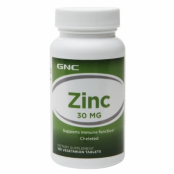 GNC Zinc 30, Vegetarian Tablets, 100 ea