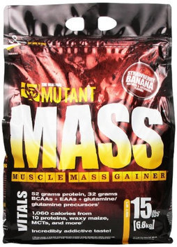 Mutant - Mass Muscle Mass Gainer Strawberry Banana Cream - 15 lbs.