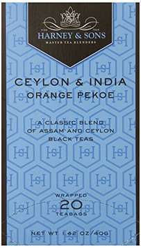 Harney & Sons Tea Co. Harney & Sons Tea, Orange Pekoe, Case of Six 20 Tea Bags each (120 bags)