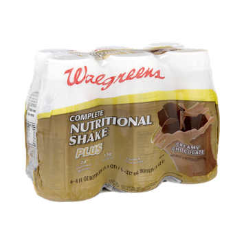 Walgreens Creamy Chocolate Complete Nutritional Shake Plus - 6 PK