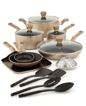 T-fal T-Fal Culinaire Champagne 16 Piece Cookware Set