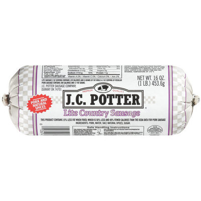 J.C. Potter Lite Country Premium Quality Sausage, 16 oz