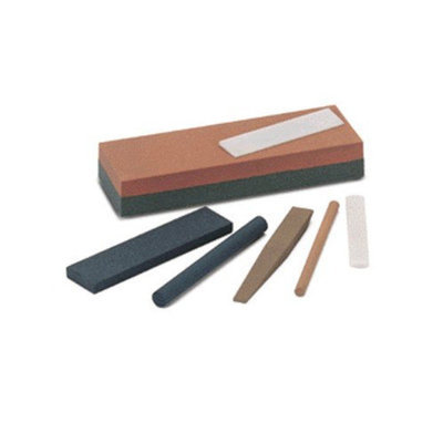 Norton Combination Grit Abrasive Sharpening Benchstones - sib6 soft arkansas-india bench stone