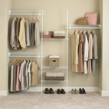 ClosetMaid SuperSlide Closet Organizer Kit - White (5' to 8')