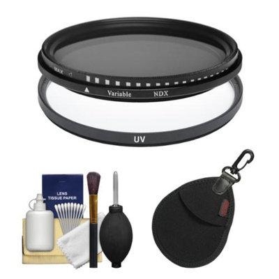 Vivitar 82mm (UV + Neutral Density) Glass Filter with Filter Case + Lens Cleaning Kit