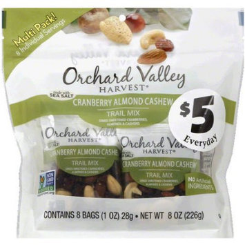 Orchard Valley Harvest Cranberry Almond Cashew Trail Mix, 8 oz, (Pack of 6)