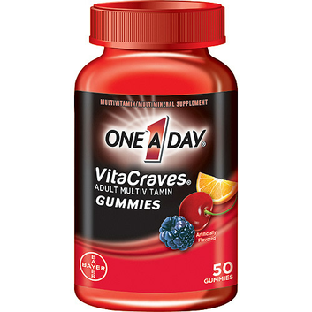 One A Day Vita Craves Gummies Complete Adult Multivitamin/Multimineral Supplement - 50 Ct