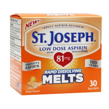 St. Joseph Adult Low Dose Aspirin Rapid Dissolving Melts 81mg, Orange, 30 ea