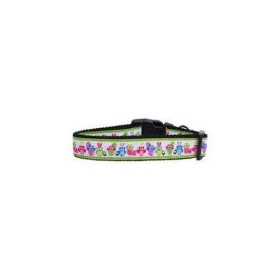 Ahi Easter Birdies Nylon Ribbon Dog Collars Medium