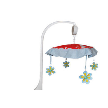 Divina DK Leigh Red Graphic Floral Musical Mobile