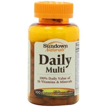 Sundown Naturals Daily Multi Vitamin, 100 Caplets (Pack of 4)