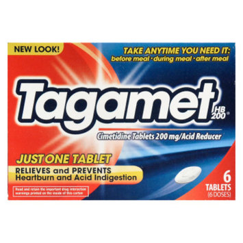 Tagament Acid Reducer Tablets, 6 ct