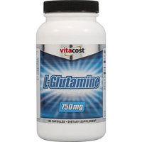 Vitacost Brand Vitacost L-Glutamine -- 750 mg - 180 Capsules