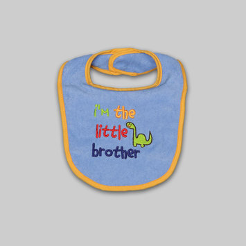 A.d. Sutton & Sons/pacesetter Tender Kisses Infant Boy's Embroidered Bib Little Brother - A.D. SUTTON & SONS/PACESETTER