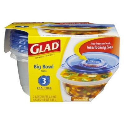 Glad Ware Design Big Bowl Containers 3 ct