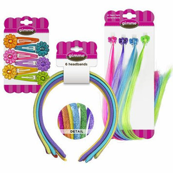 Gimme Clips Headband, Snap Clips, Elastics Mix - 66 Count