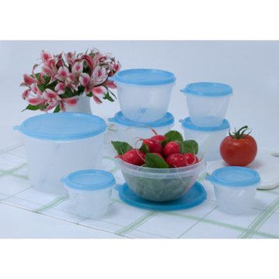 Fresh Keeper 16-Piece Food Storage Set, Blue Lids
