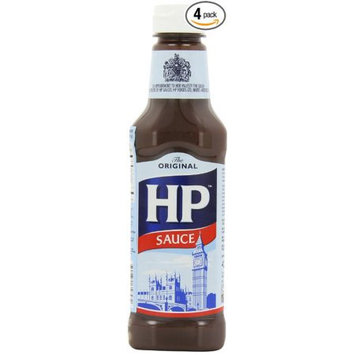Hewlett Packard H P Sauce, 15-Ounce Plastic Bottles (Pack of 4)