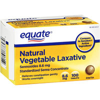 Equate : Natural Sennosides 8.6 Vegetable Laxative