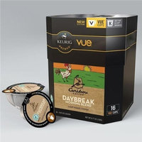 16 Count - Caribou Daybreak Morning Blend Vue Cup Coffee For Keurig Vue Brewers