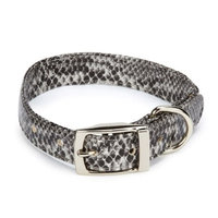 East Side Collection ESC West End Pet Collar - Silver Python