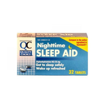Quality Choice Night Time Sleep Aid Tablets 32 Count, Boxes (Pack of 6)